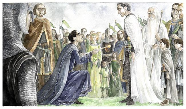 Aragorn's Coronation by Anke Eissmann
