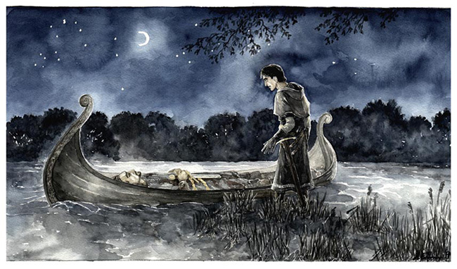 Boromir's Funeral by Anke Eissmann