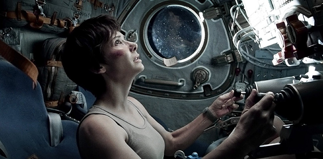 Sandra Bullock in Gravity Oscars 2014